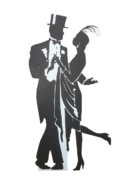 1920's Great Gatsby Dancing Couple Prop