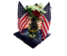 All American Centerpiece w/ Flags