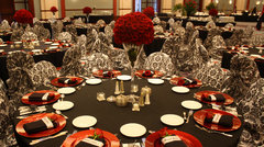 Gala - Black, Red & White Table Decor