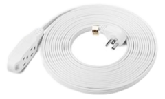 25' White Extension Cord