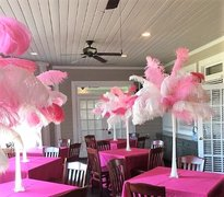 Pink & White Feather Centerpiece