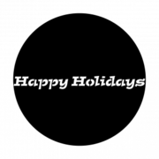 Happy Holidays GOBO Disc