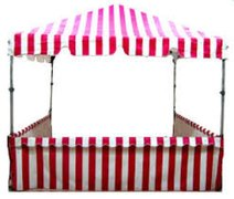 8' x 8' Red & White Carnival Tent