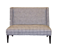 Black and White Checkered Love Seat