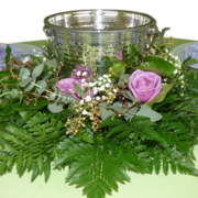 Floral Centerpiece with Champagne Bucket