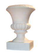 White Urn for Top of Column