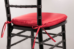 Chiavari Black Chairs with Red Cushions