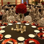 Black, Red & White Gala or Prom Theme