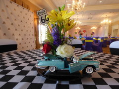 1950's Theme Car Flower Arrangement
