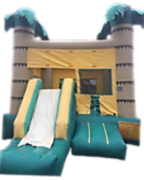 Bounce House - Tropical with Slide Combo