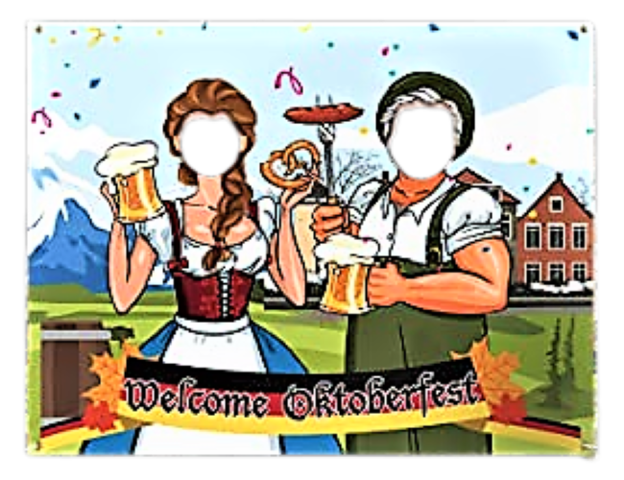 Oktoberfest - Photo Fronts - 2 person - Landscape
