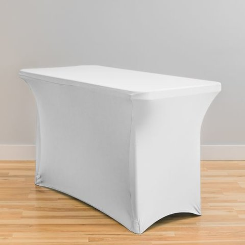 White Spandex- 4ft Table