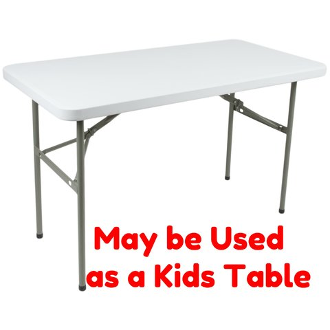 Adjustable 4ft Table-
