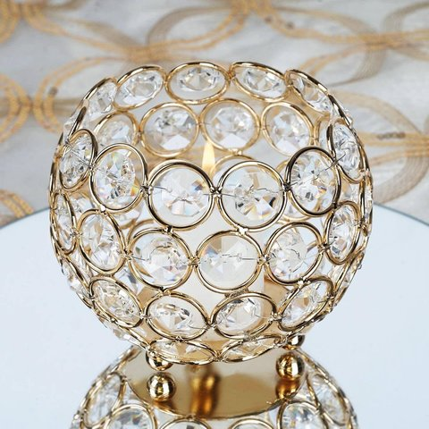 Gold Crystal Votive