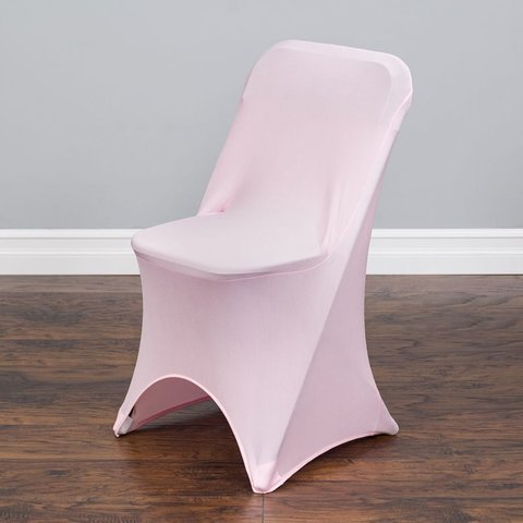 Pink  Folding Spandex Chair Cover-