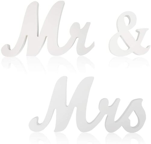 MR & MRS- Table Sign
