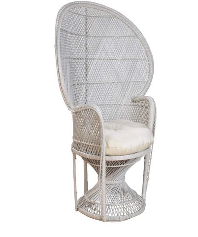 High Back Wicker Chair