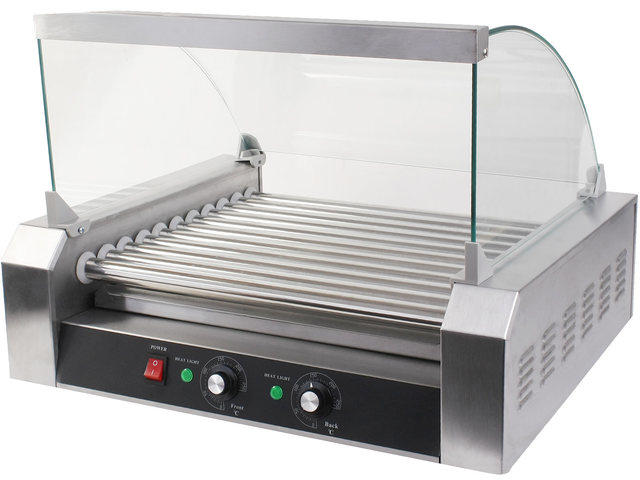 Hot Dog Grill w/ Glass Hood