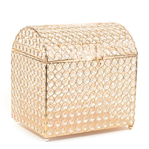 Gold Crystal Wedding Card Keeper