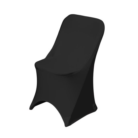 Black Folding Spandex Chair Cover