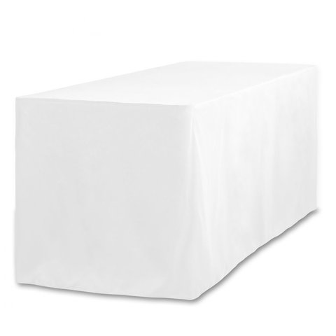 White Fitted Tablecloth- 4ft Table