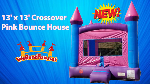13' x 13' Crossover Pink Bounce House
