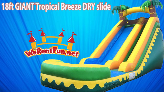 0009 18ft GIANT Tropical Breeze Dry-slide