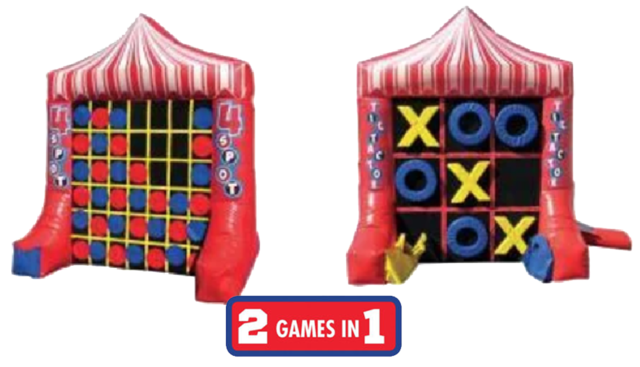R30 - 2 Games In 1 Giant Tic Tac Toe & 4-Spot Inflatable Game