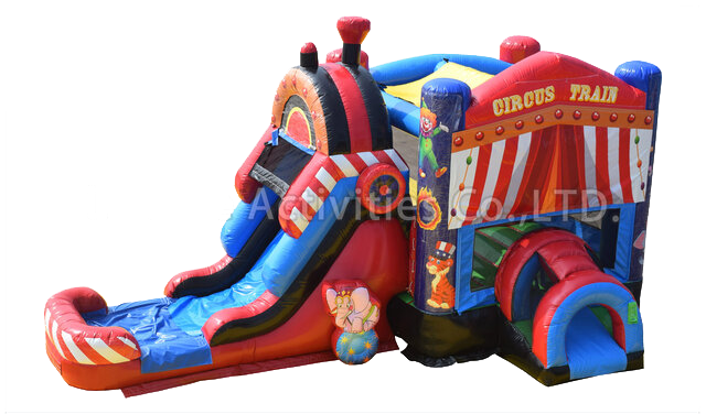 Circus - Carnival Bounce House With Slide