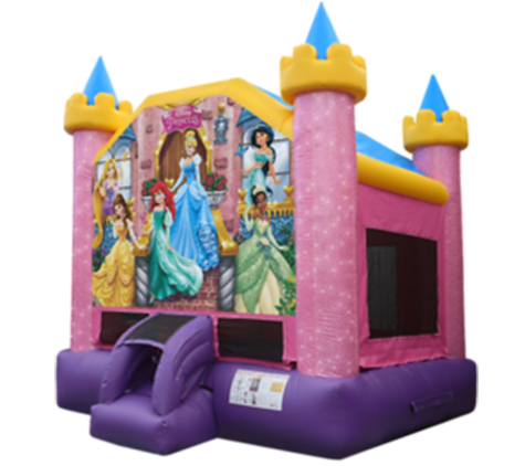 B05 Disney Princess Bounce House 13 x 13