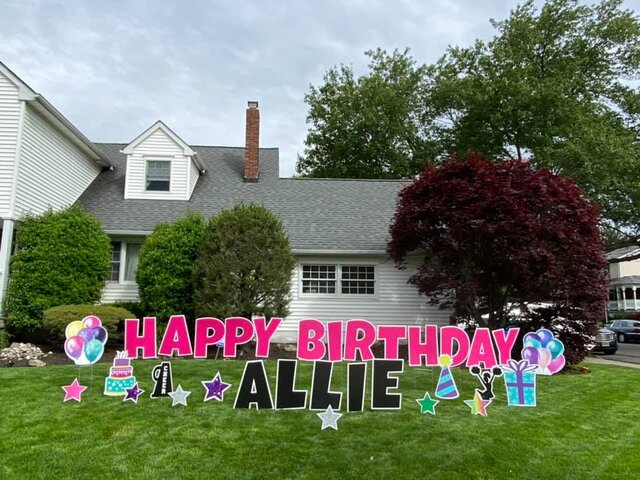 Girl Happy Birthday Yard Sign