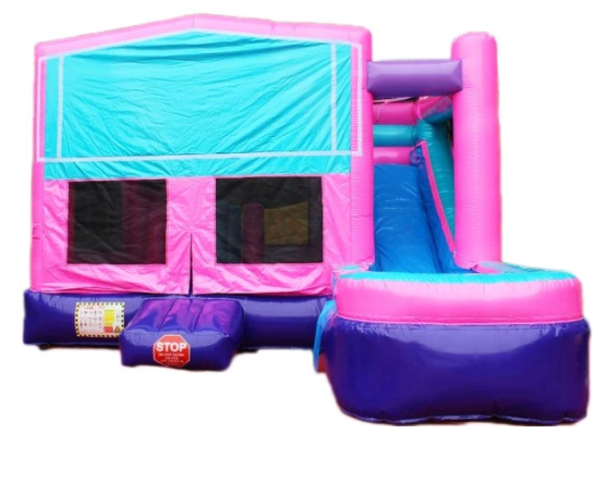 Glitter Backyard Bounce House With Slide