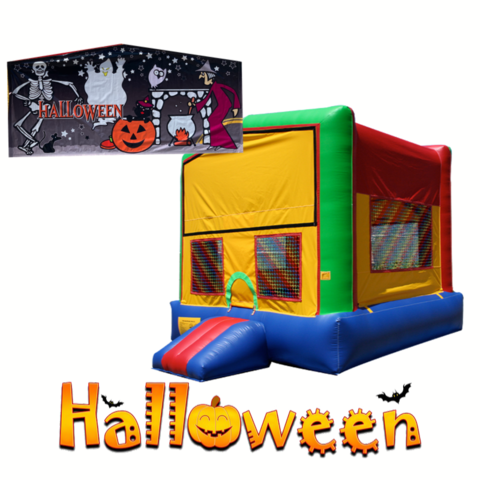 H01 Halloween multi-Colors Bounce House