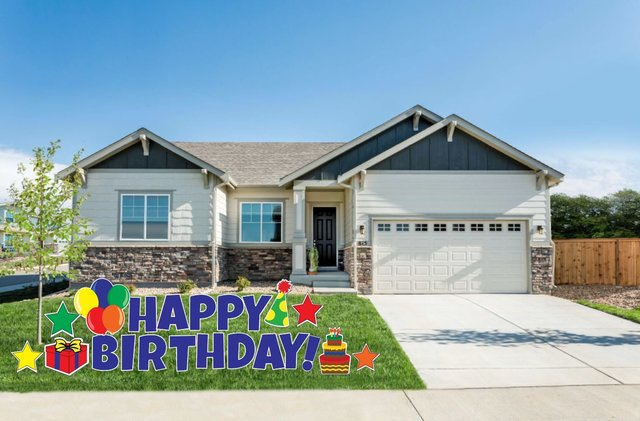H2 Boy Happy Birthday Yard Sign