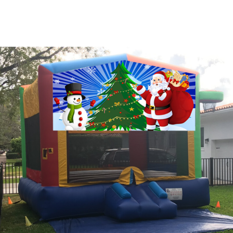 X01 Holidays Multi-Colors Bounce House