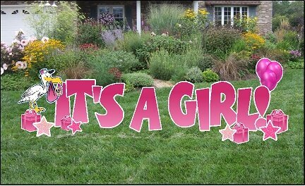 H7 It's A Girl Yard Sign