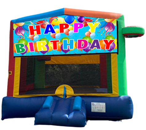 B1 - Mega multi-Colors Bounce House (R7)