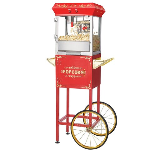 Vintage Popcorn Machine Concession with supplies for 50