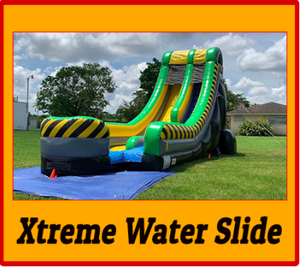 Xtreme Waterslide with Foam Machine