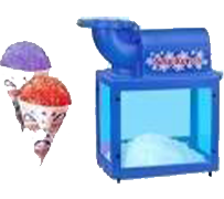 Snow Cone Machine Concession with supplies for 50