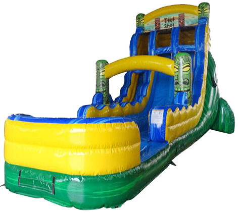 R14- 20Ft Tiki  Double Splash Water Slide