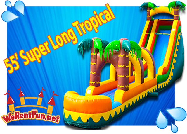 S07 -  55' Super Long  Tropical- Water Slide