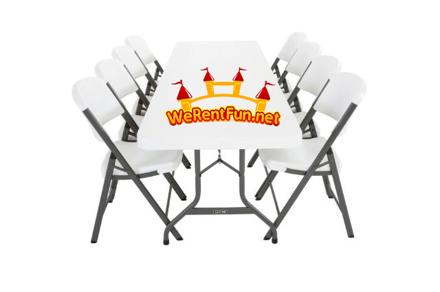 4 Tables + 24 Chairs (show wear. they come as it is. )
