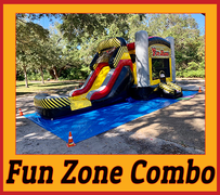 C16 Fun Zone  Bounce House With Water Slide (Wet/Dry) ComboBest for ages 2+ Space Needed 32 L x 21 W x 18 H