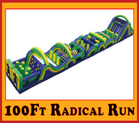 OC05100' Radical Run Obstacle Course A B C Best for ages 5+ Space Needed 106' Length X 23' Width X 25' Height
