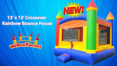 <font color=Green><b>B03 <font color=grey><b> Crossover Rainbow Bounce House