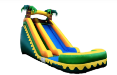 S12 18FT Aloha Tropical Water  Slide With Pool  Best for ages 5+ Space Needed 34 D x 20 W x  22 H