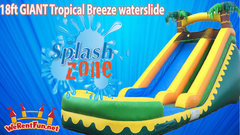 <font color=Green><b>S01<b><font color=red><b> 18FT Aloha Water  Slide  </font><br><small>Best for ages 5+<br> <font color=blue>Space Needed 34 D x 20 W x  22 H</font></b></small>
