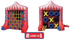 R30 (2 Games In 1) Giant Tic Tac Toe & 4-Spot Inflatable Game