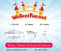 Table & Chair Rentals | Rent Table & Chairs | We Rent Fun